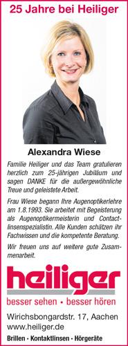 Heiliger Optik Akustik Aachen - Bild Jubilaeum Frau Wiese